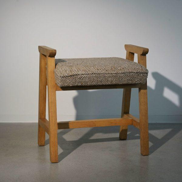 Oak Stool by Guillerme et Chambron