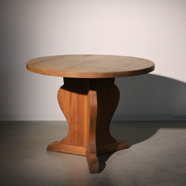 Stained pine table by Axel Einar Hjorth