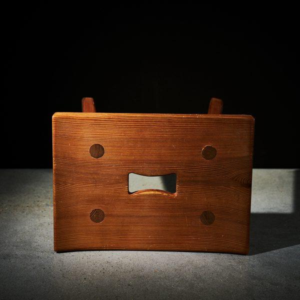 'Hadar' pine stool by Carl Malmsten